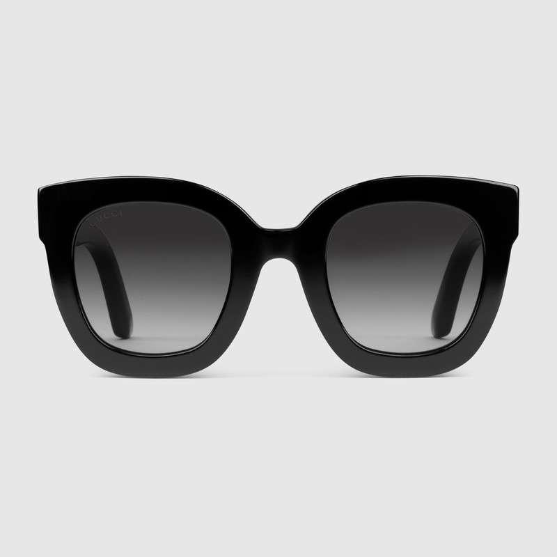 premium selection fa193 8086f Occhiali da sole rotondi in acetato con stella Gucci GG0208S